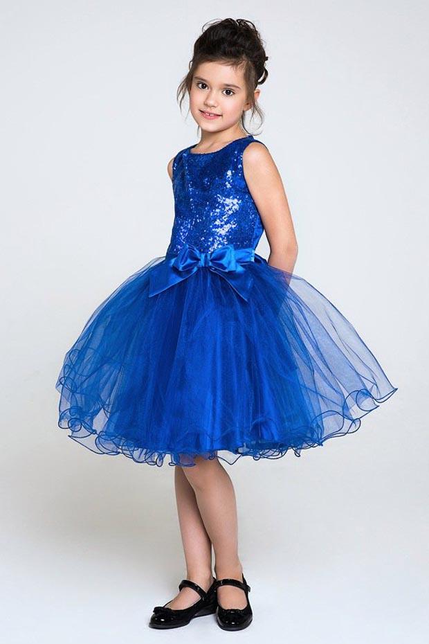 Синее платье на выпускной